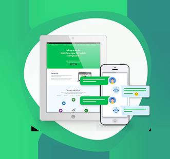 VipChat là giải pháp chat trực tuyến cho phép bạn theo dõi và trò chuyện với khách truy cập website của bạn.