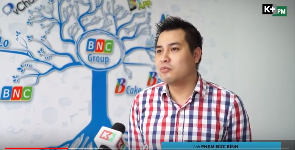 Không khí cổ vũ U23 Việt Nam tại BNC Group trên sóng truyền hình K+