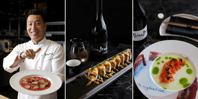 Nhà hàng Akira Back tại JW Marriott Hanoi phục vụ các món ăn Nhật Bản và Hàn Quốc