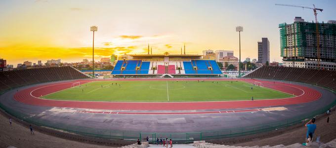 Đội tuyển Campuchia sẽ tiếp các đội Malaysia và Lào trên sân vận động này tại giải AFF Cup 2018