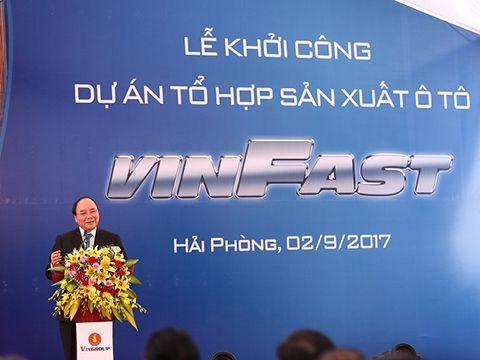 Lễ khởi công nhà máy sản xuất oto Vinfast vào 9/2017