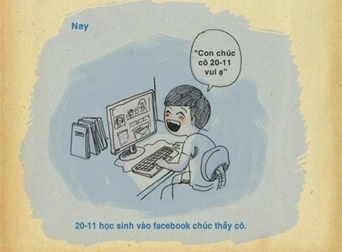 Ngày 20/11 Facebook thầy cô ngập tràn lời chúc của học sinh