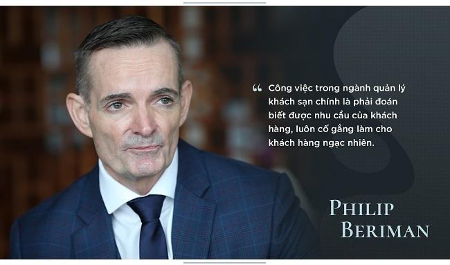 Philip Beriman luôn muốn dịch vụ khách sạn trở nên hoàn thiện nhất với khách hàng