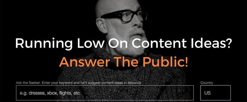 SEO với Answer the Public