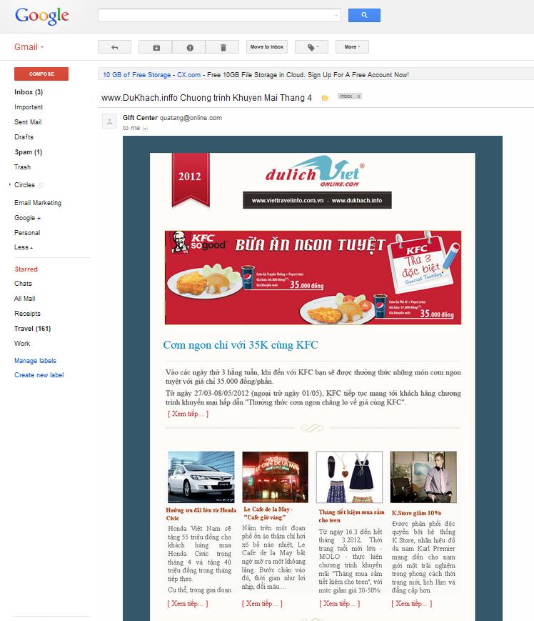 Thiết kế email cũng là một bước để tạo ấn tượng mạnh với khách hàng