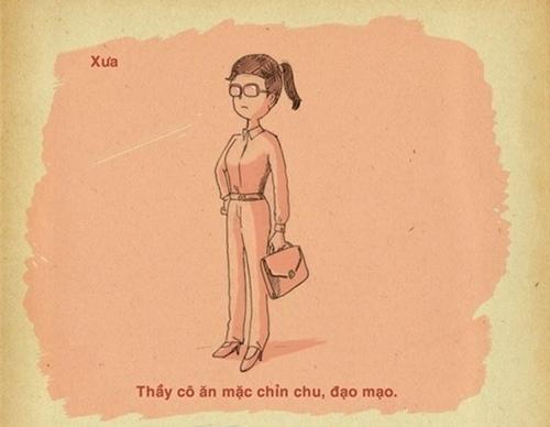 Chính trang phục cũng khiến thầy cô trông nghiêm khắc hơn rất nhiều