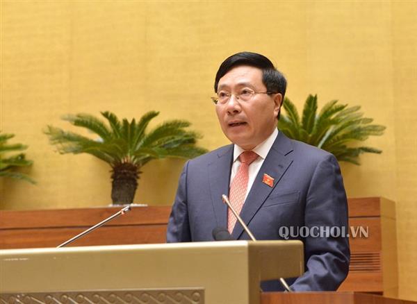 Phó thủ tướng, Bộ trưởng Bộ Ngoại Giao Phạm Bình Minh trình bày các thách thức cho Việt Nam khi CPTPP có hiệu lực