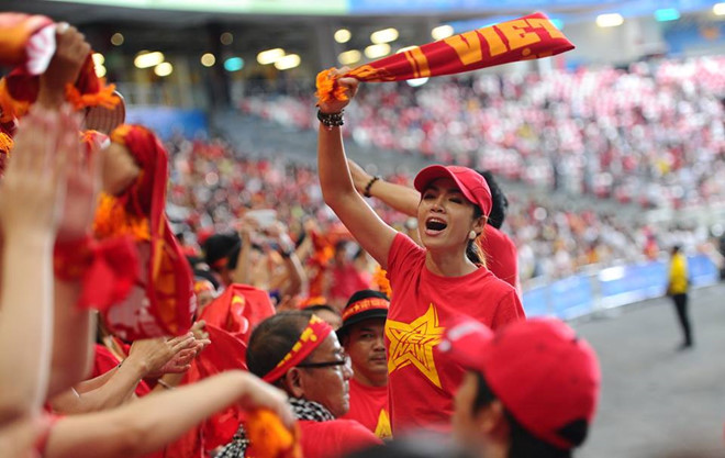 """Chuẩn bị tốt để """"bão"""" cùng đội tuyển Việt Nam khi thi đấu trên sân nhà."""