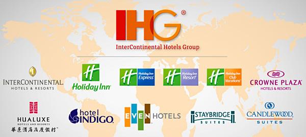IHG sở hữu 9 thương hiệu khách sạn nổi tiếng