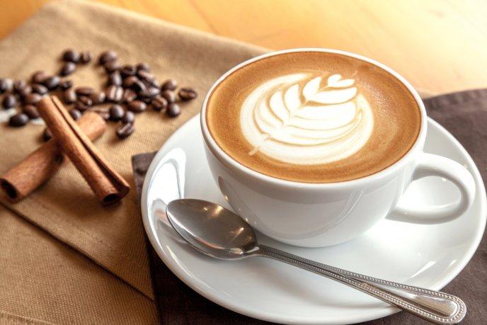 Một tách cà phê trình bày đúng kiểu Mùa đông