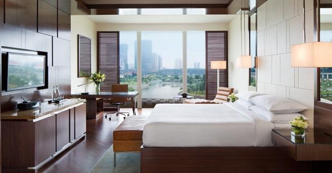 Phòng nghỉ tại Marriott Hà Nội rộng rãi; thoải mái tạo được cảm giác dễ chịu cho khách hàng