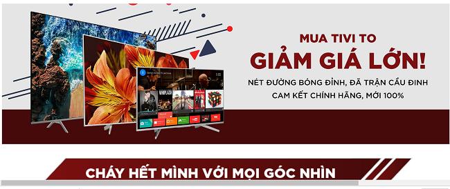 Một trong những sản phẩm Sale nhiều mua AFF Cup của Tiki là tivi