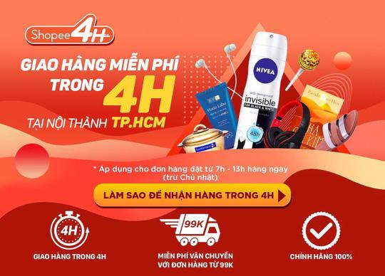 Dịch vụ Shopee4H là một chiêu bài giúp doanh thu tăng vọt trong dịp Sale năm nay của Shopee