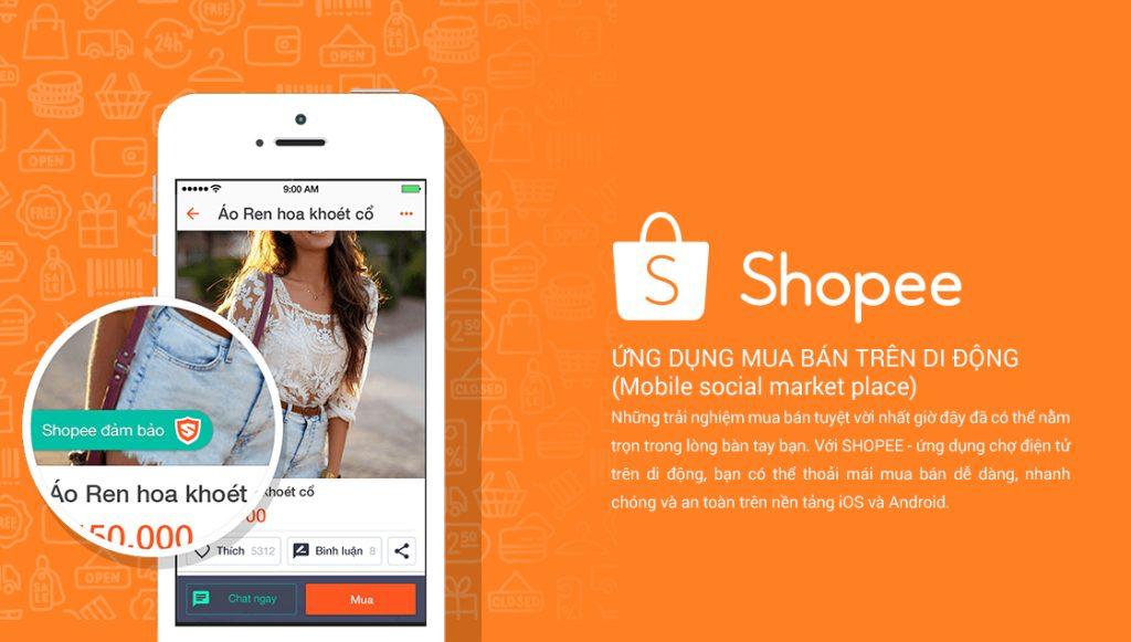 App bán hàng của Shopee