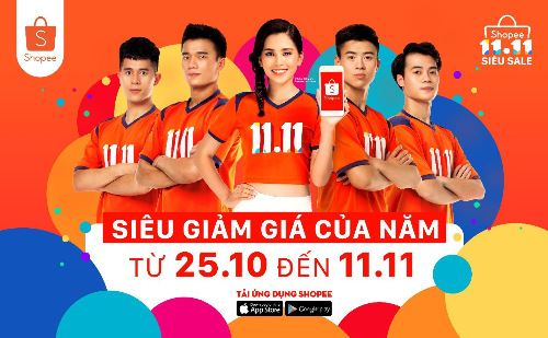 Siêu giảm giá 11/11 của shopee - tưng bừng khuyến mại các sàn thương mại điện tử Việt Nam