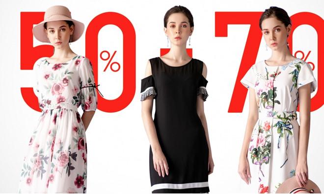 Các mặt hàng thời trang đều giảm giá sâu