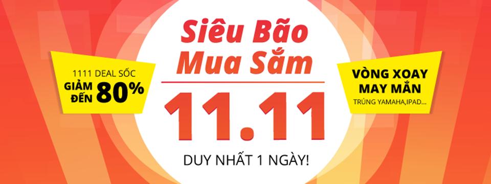 Siêu bão mua sắm Tiki 11/11 - tưng bừng khuyến mại 11/11 các sàn thương mại điện tử Việt Nam