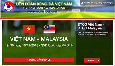 Mua vé online tại địa chỉ ticketonline.vff.org.vn hoặc vebongda.vff.org.vn
