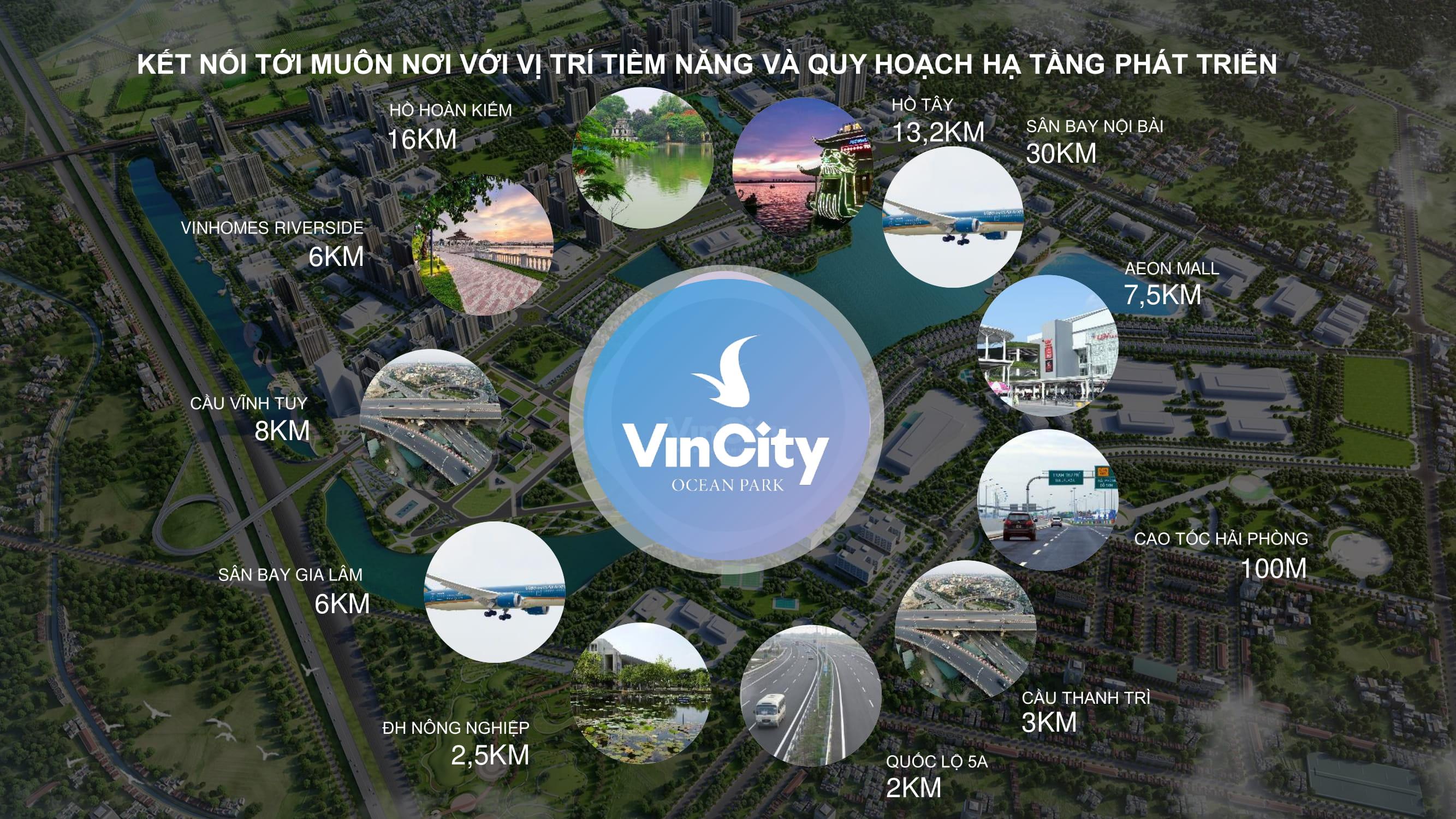 VinCity đươc đánh giá có vị trí chiến lược để phát triển thành khu Đô thi hạt nhân