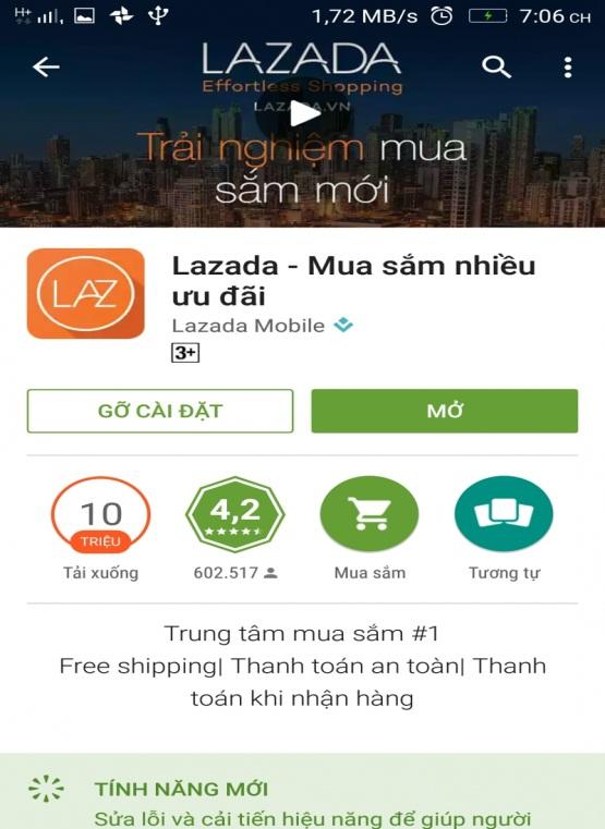 ứng dụng mua sắm trực tuyến