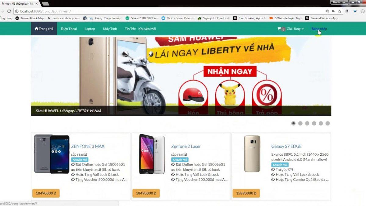 Thiết kế website bán hàng cho cửa hàng đồ công nghệ hiệu quả